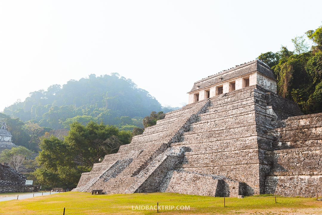 Visit Palenque Ruins early in the morning to avoid the tours and crowds.