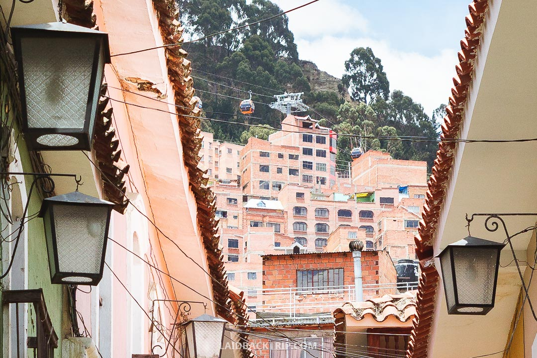 The cable car is a great way how to get around La Paz.