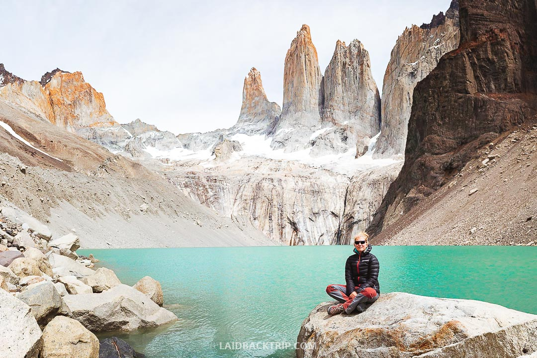 Expect strong winds in Torres del Paine National Park, so wear proper gear when hiking.