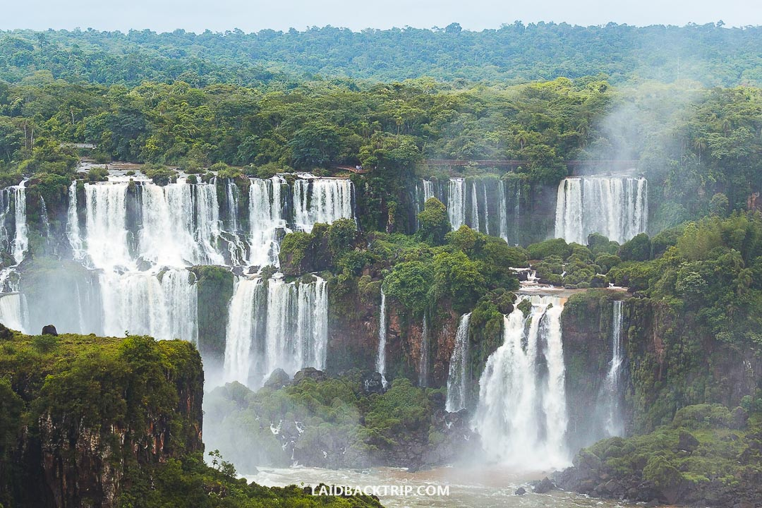 Iguazu Falls is a top attraction in Brazil.