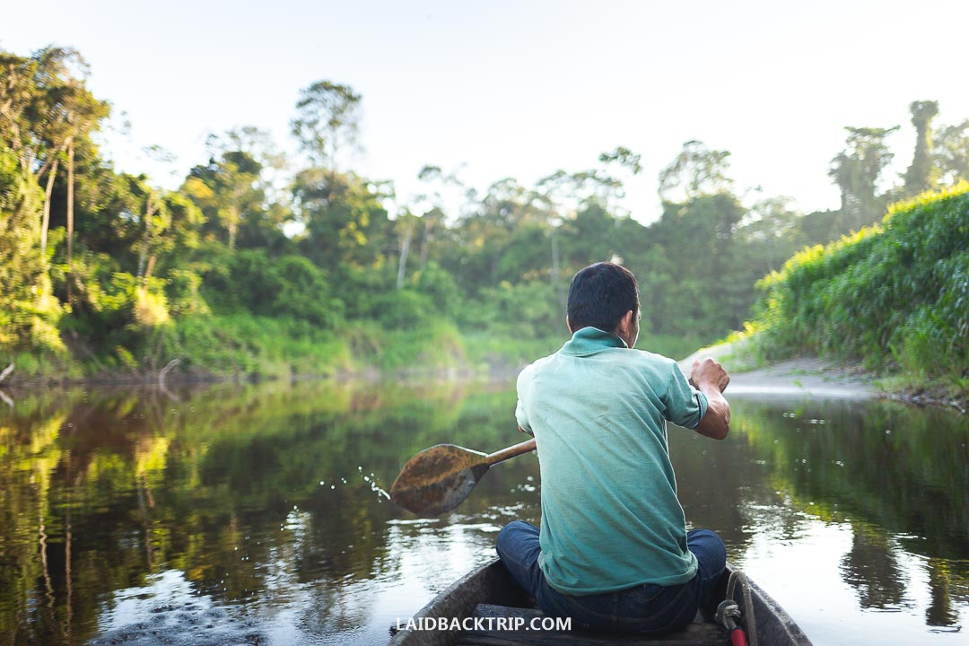 We visited the Amazon jungle in Peru in a Pacaya Samiria National Reserve.