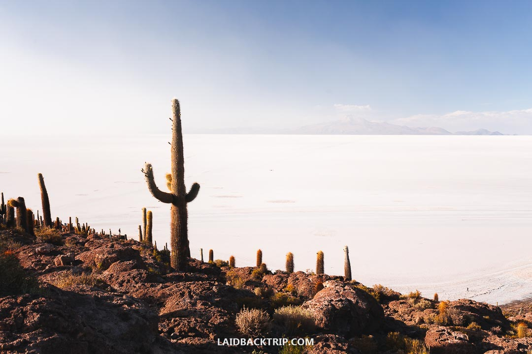 The Salar Uyuni salt flats are best explored by a jeep on a three-day tour.