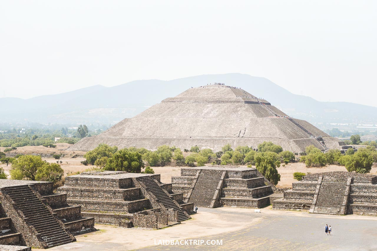 Teotihuacan, Mexico is amazing pre-Aztec ruin near Mexico City, and this is our travel guide including useful tips on how to get there, and safety advice.