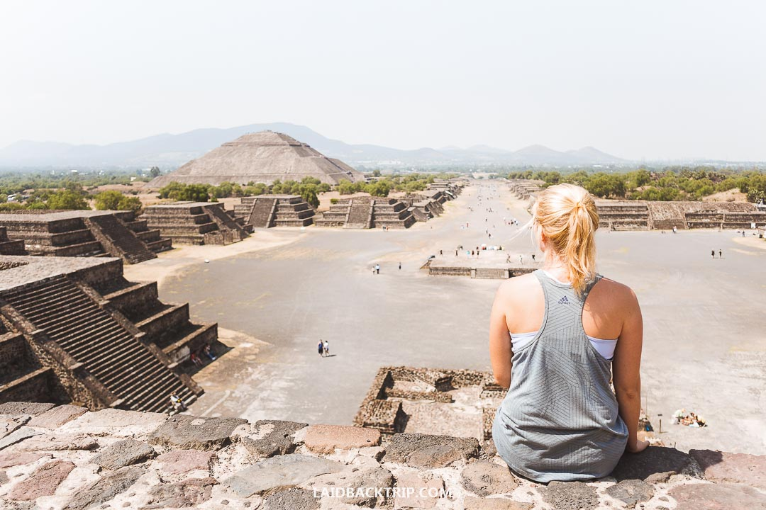 You can climb the two main pyramids in Teotihuacan, Mexico City.