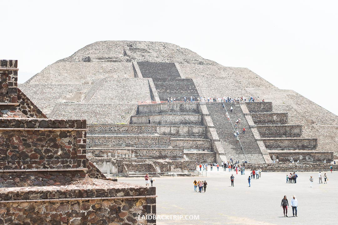 The entrance fee to Teotihuacan is currently 75 Mexican pesos.
