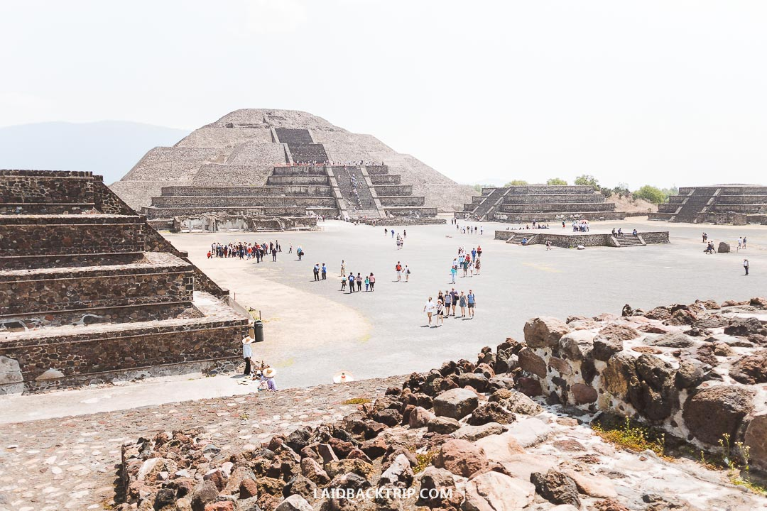 The site of Teotihuacan is huge, and you will spend a lot of time walking around the place.