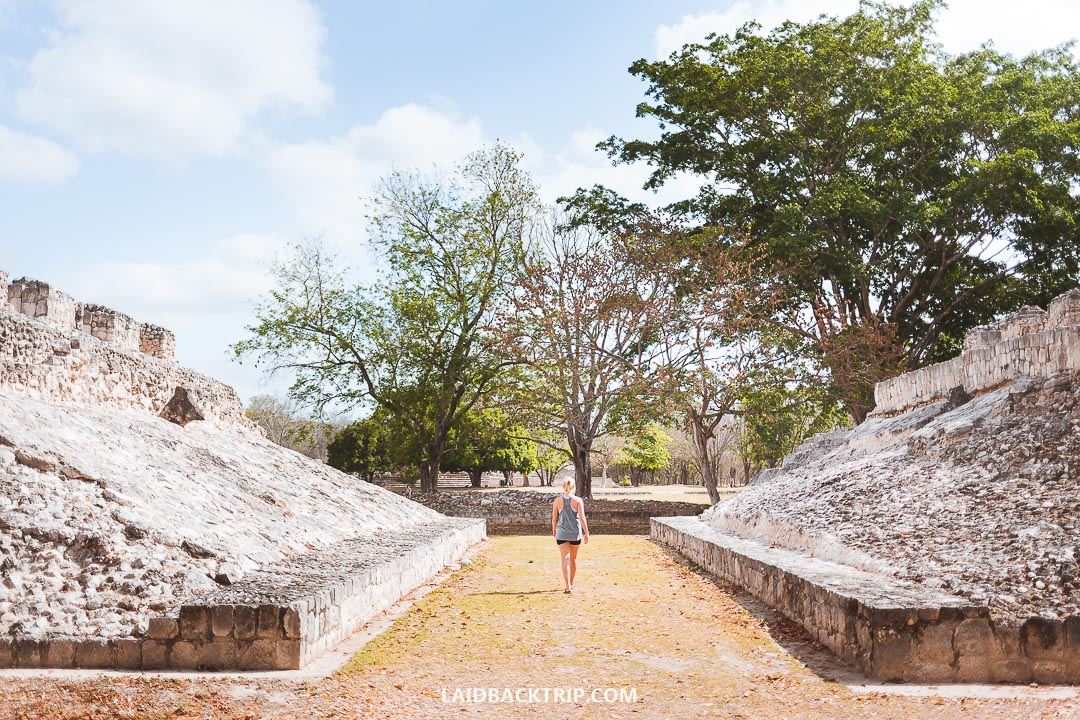 Edzna Ruins is a Mayan archelogical site in Yucatan, Mexico.