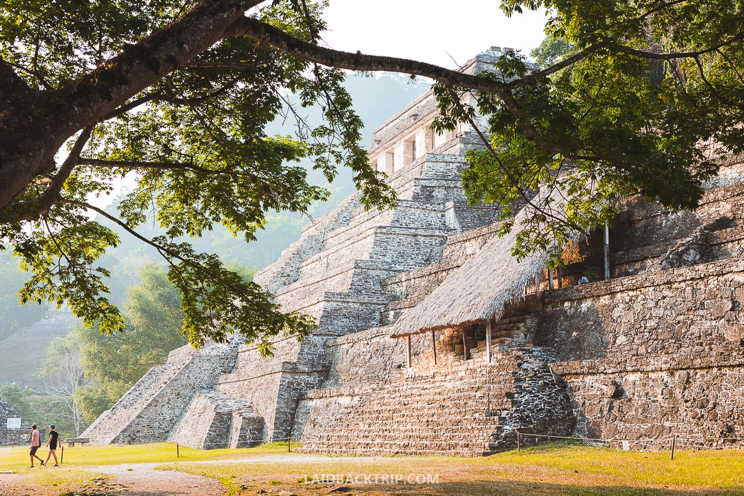 Palenque Ruins are located deep in the Mexican jungle.