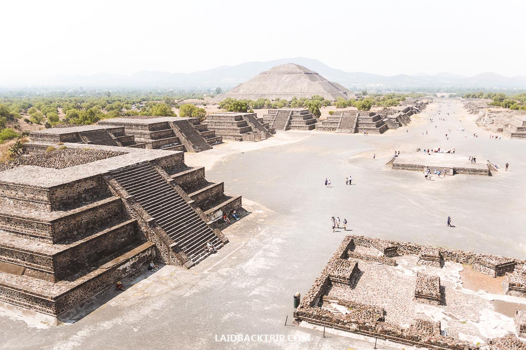 Teotihuacan is best visited on a day trip from capital Mexico City.