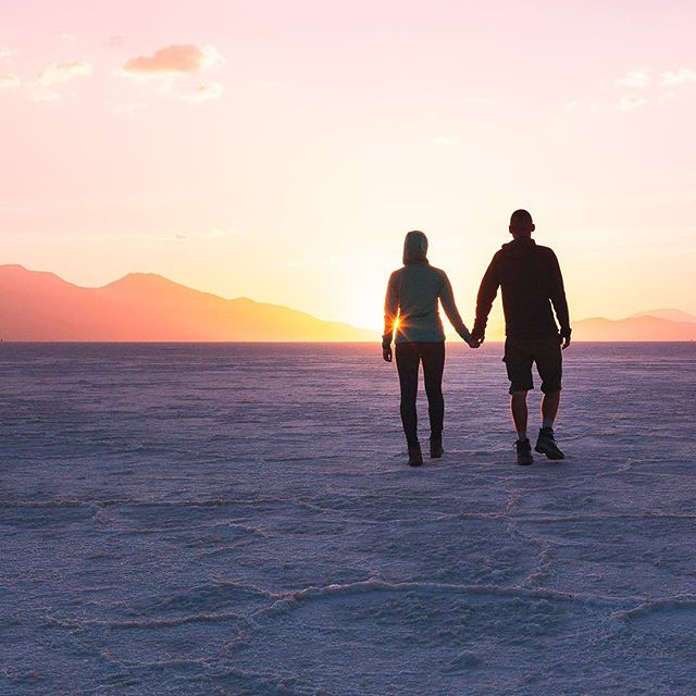 We are probably not the classic couple, and definitely not the classic travel couple as over the past 11 years we've been together we have a very few photos together. Glad to share one of the few we have in the archives.  #salardeuyuni #bolivia #saltflats #uyuni #sunset #finditliveit #traveldeeper #destination_wow #travelcouples #openmyworld #thediscoverer #letsgoeverywhere #searchwandercollect #cestujeme #travelblogger #dreamermagazine #thetraveltag #burnmyeye #peopleoftheworld #whatisee #visitsouthamerica #suitcasetravels #stayandwander #ikoktejlcz #postcardplaces #discoverglobe #mytinyatlas #amazingsunset