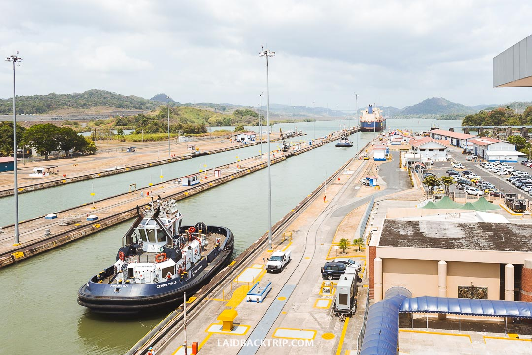 Miraflores Locks is the best place where to visit the Panama Canal.