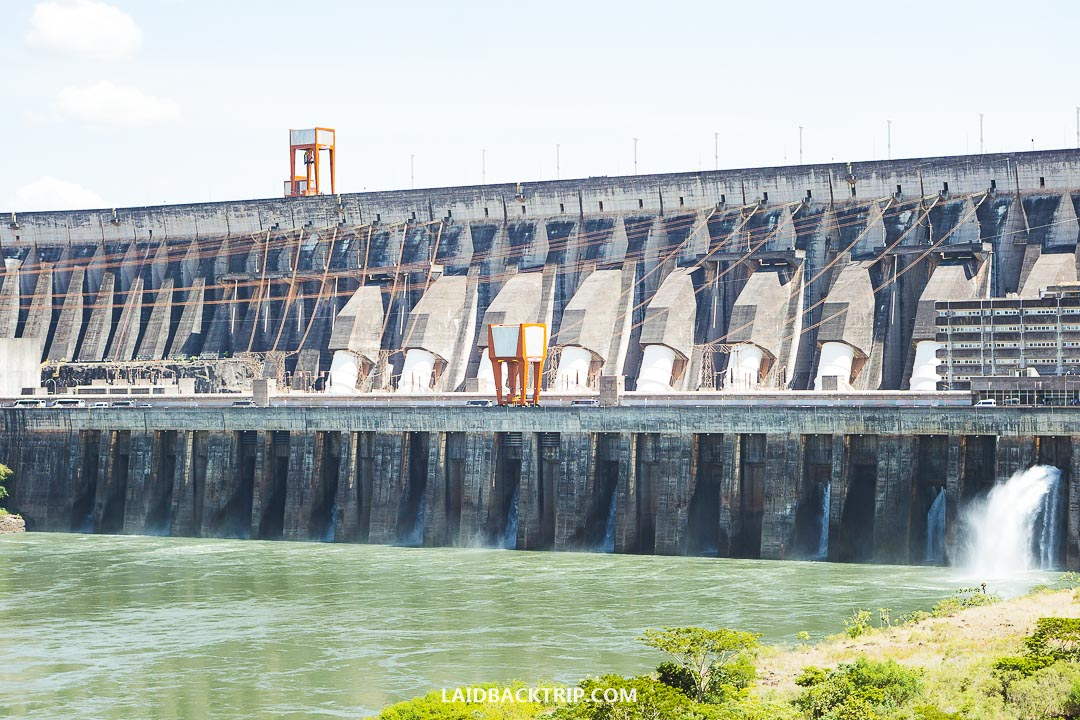 The Itaipu Dam is a hydroelectric dam on the Parana River.