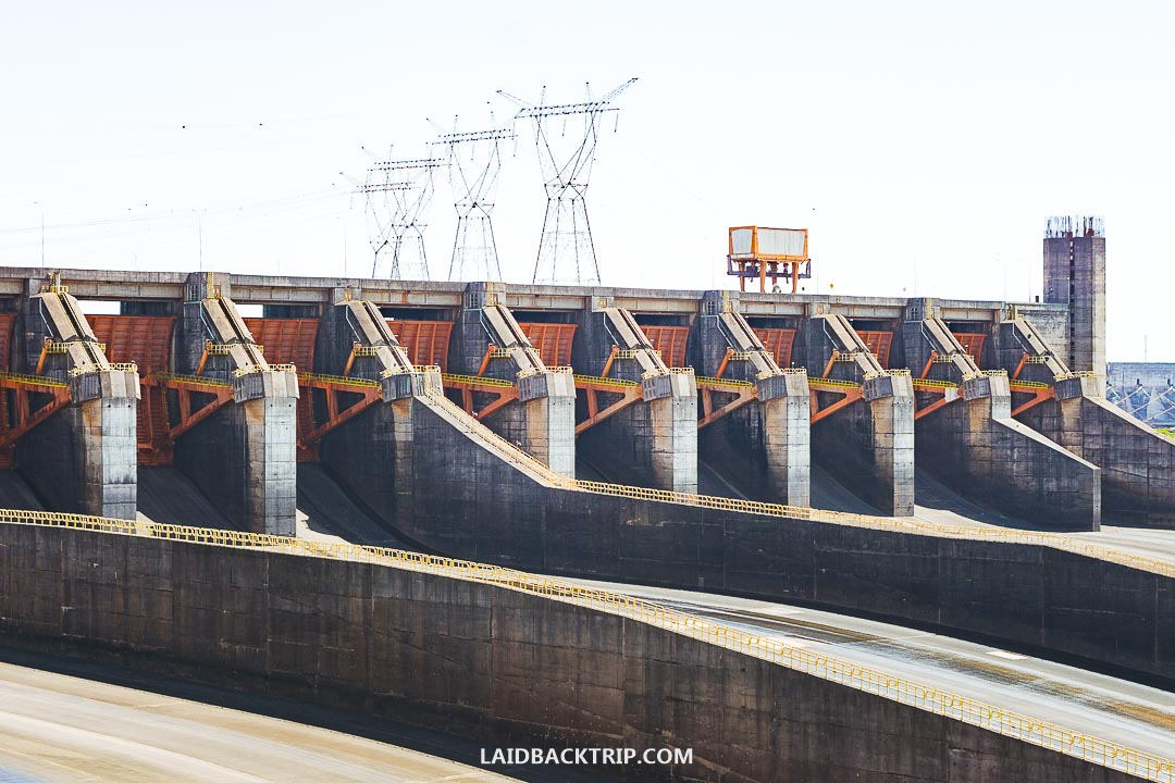 You can visit the Itaipu Dam from both Paraguay and Brazil.