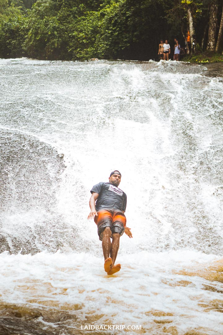 Cachoeira Do Toboga is also known in English as waterfall toboggan.