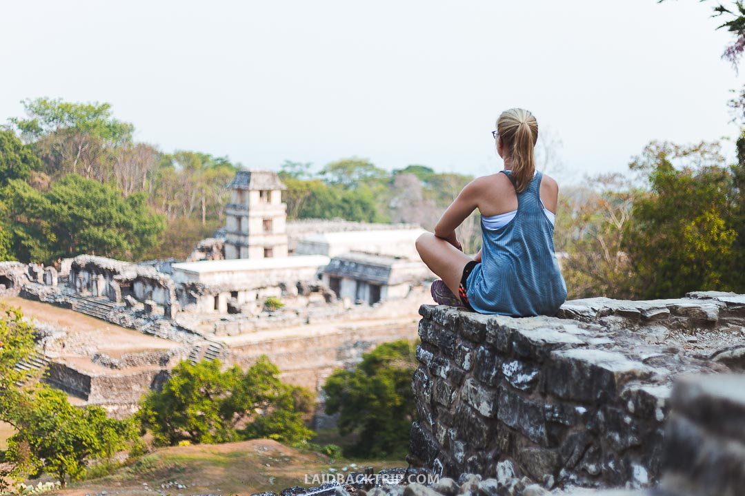 Palenque ruins are hidden deep in the jungle.