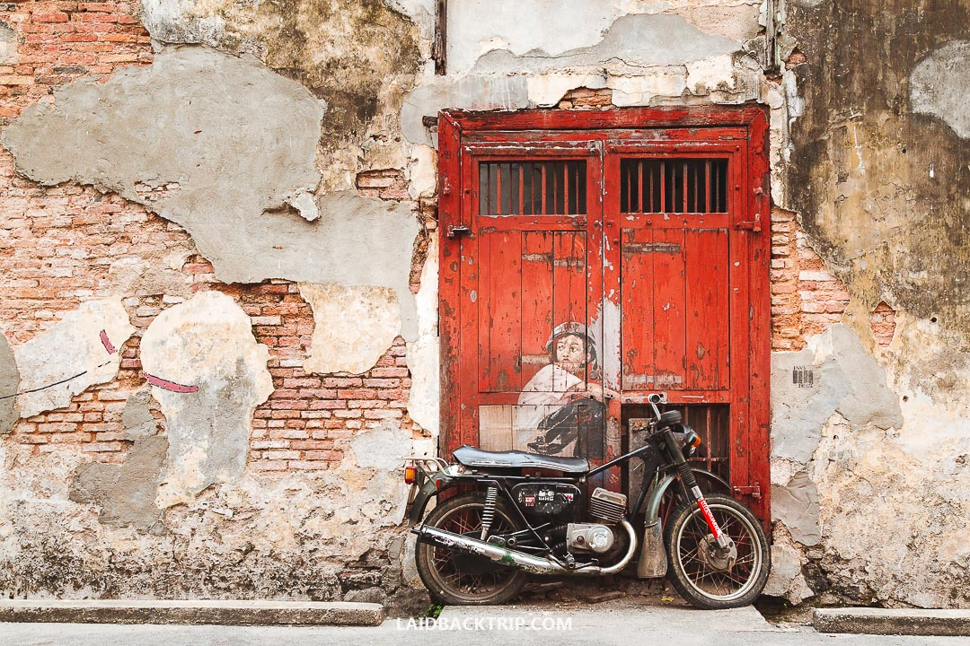 Street Art is famous in George Town.