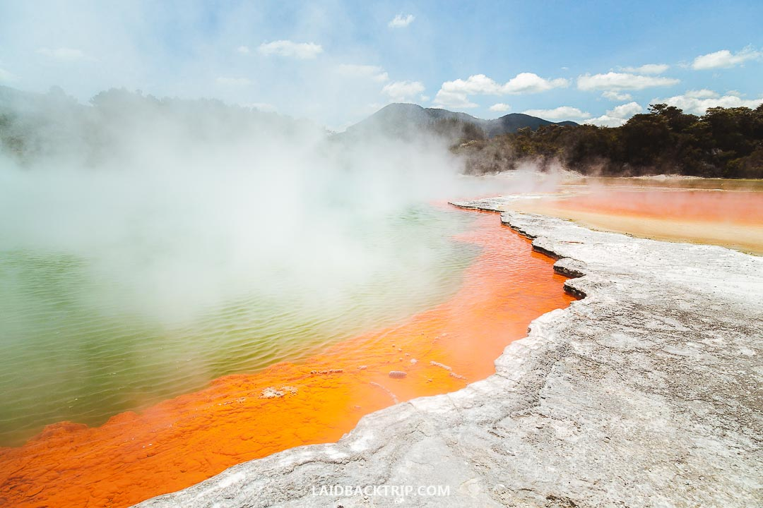 Wai-O-Tapu Geothermal Wonderland is the most touristy place in the area Rotorua.