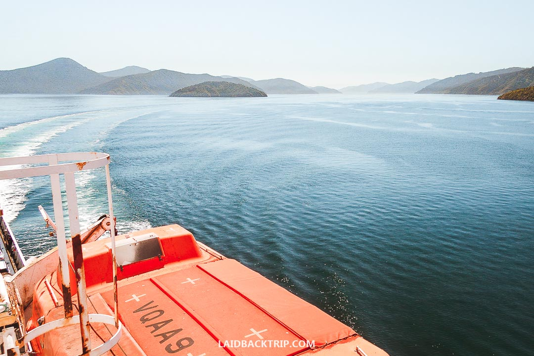 The ferry between New Zealand's North Island and South Island is an amazing ride.