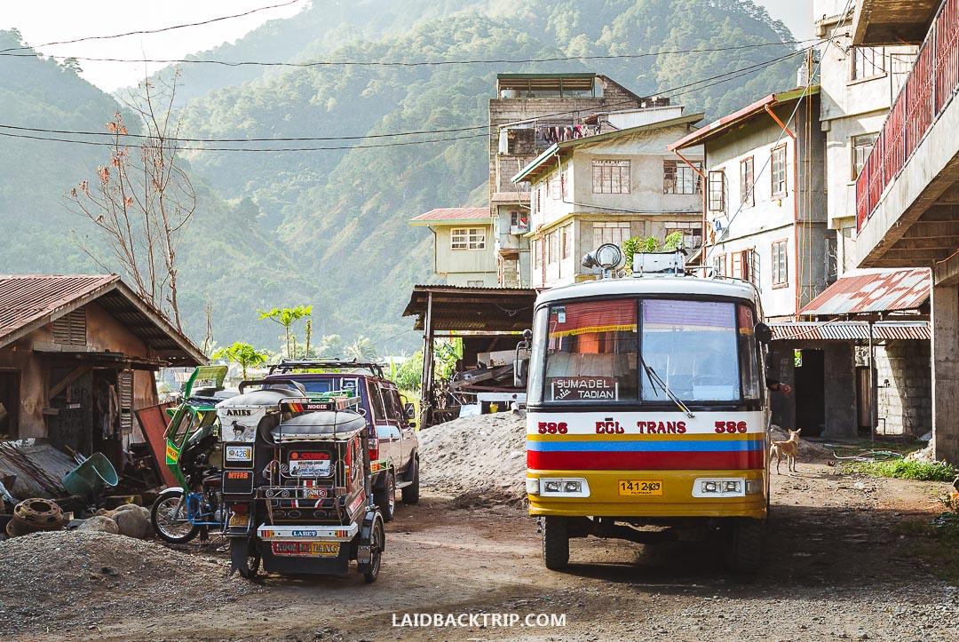 We traveled by bus to Sagada from Vigan via Baguio.