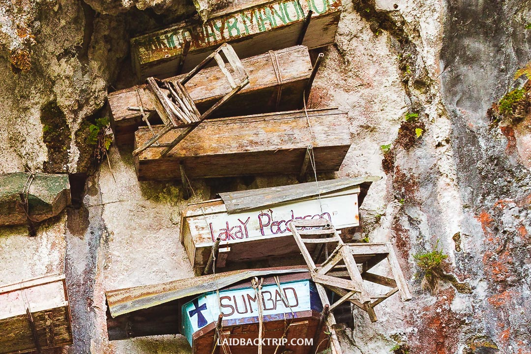 Sagada is famous for its hanging coffins.