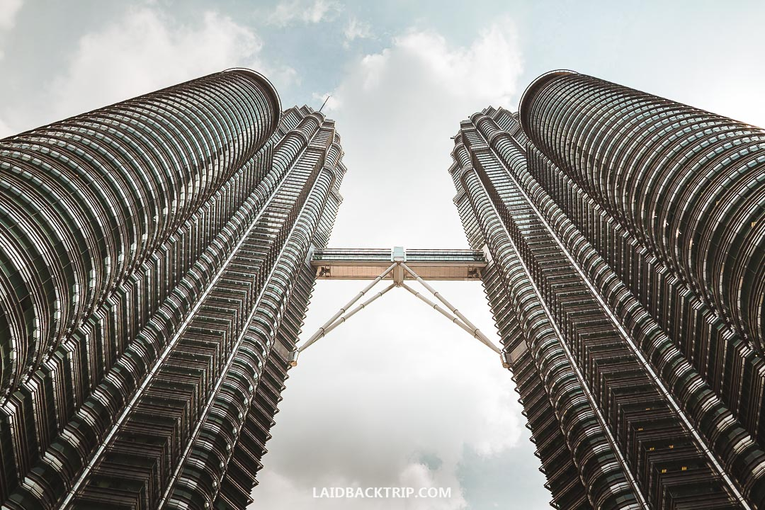 Petronas Twin Towers is the most famous skyscraper in Kuala Lumpur.