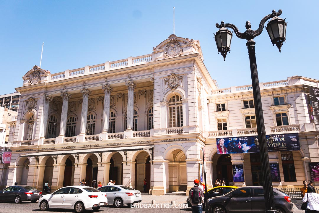 You can join walking tour in Santiago, that will show you top attractions around t