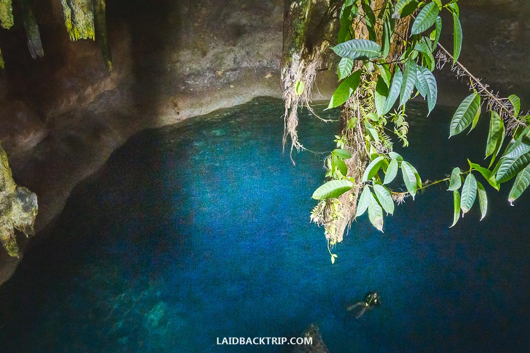 Cenotes are underground caves in Yucatan, Mexico.