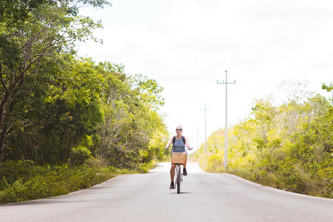 You can rent a bike in all hostels or bike shops in Tulum.
