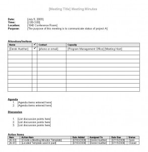 Click here to download the Meeting Minutes Template