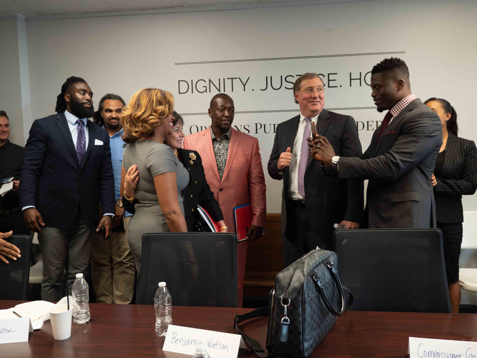 Saints players, Roger Goodell learn from advocates about New Orleans' criminal justice issues -
