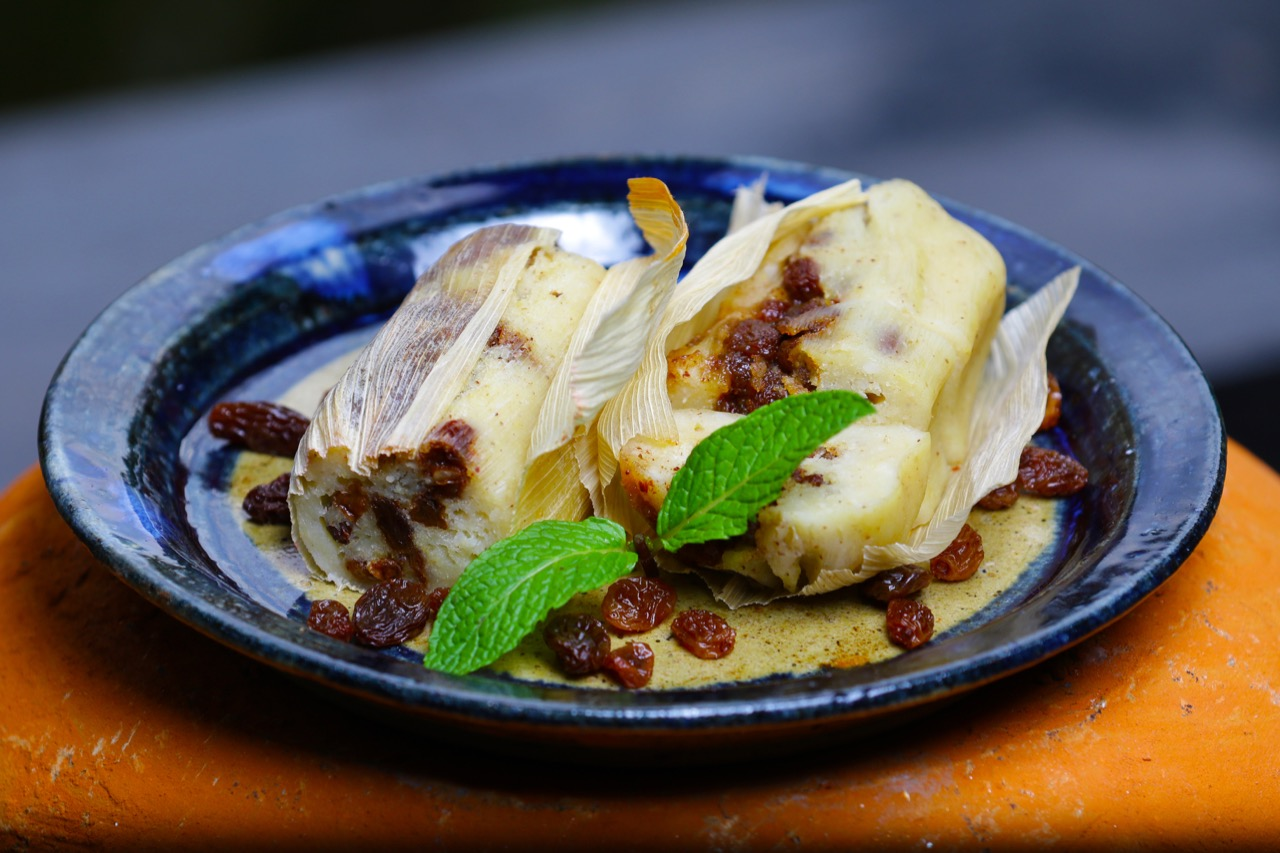 Roasted Pineapple Tamales with Riesling Poached Raisins copy.jpg