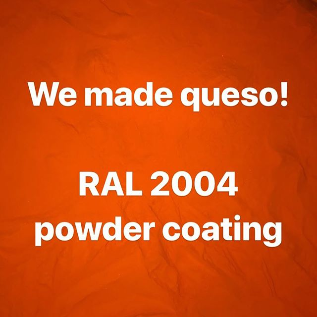 #queso #powdercoating #aama2604 #aama2605 #powdercoat #powdercoated  #powdercoatings