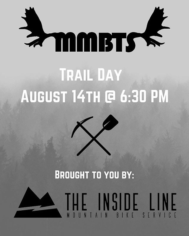 Come one, come all to our trail building evening on Wednesday August 14th! We'll be giving away some swag from our friends at @borncoloradobrewing and @pnwcomponents to our most enthusiastic volunteers! The trail evening will start at 6:30 at the 2k parking lot on moose mountain road. Let's build something awesome together! . . #partyinthewoods #loamlever #borncoloradobrewing #barleybelt #bikeyyc #moosemountain #jumptrail #canyoudigit #trailwork