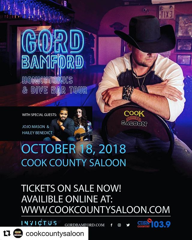 HUGE ANNOUNCEMENT!!! I am beyond excited to let you know that I will be opening along with @jojomasonmusic for @thegordbamford and his Honkytonks & Dive Bar Tour at @cookcountysaloon on October 18th!!!! Thank you to Gord, his team as well as Cook County for this absolutely incredible opportunity! Let's sell this out! It's going to be AMAZING!!! tickets @ www.cookcountysaloon.com ! @invictusegroup @cisncountry • • #Repost @cookcountysaloon ・・・ Amazing news! We just added Hailey Benedict to our show!! 🎸🎤 Tickets are going to sell out. Get yours before they do. 🤠 • • • • #country #countrymusic #cookcountysaloon #tour #gordbamford #jojomason #love #music #singer #songwriter #song #perform #yeg #linkinbio #tickets #show #canada #canadian #musician #guitar #band #singing