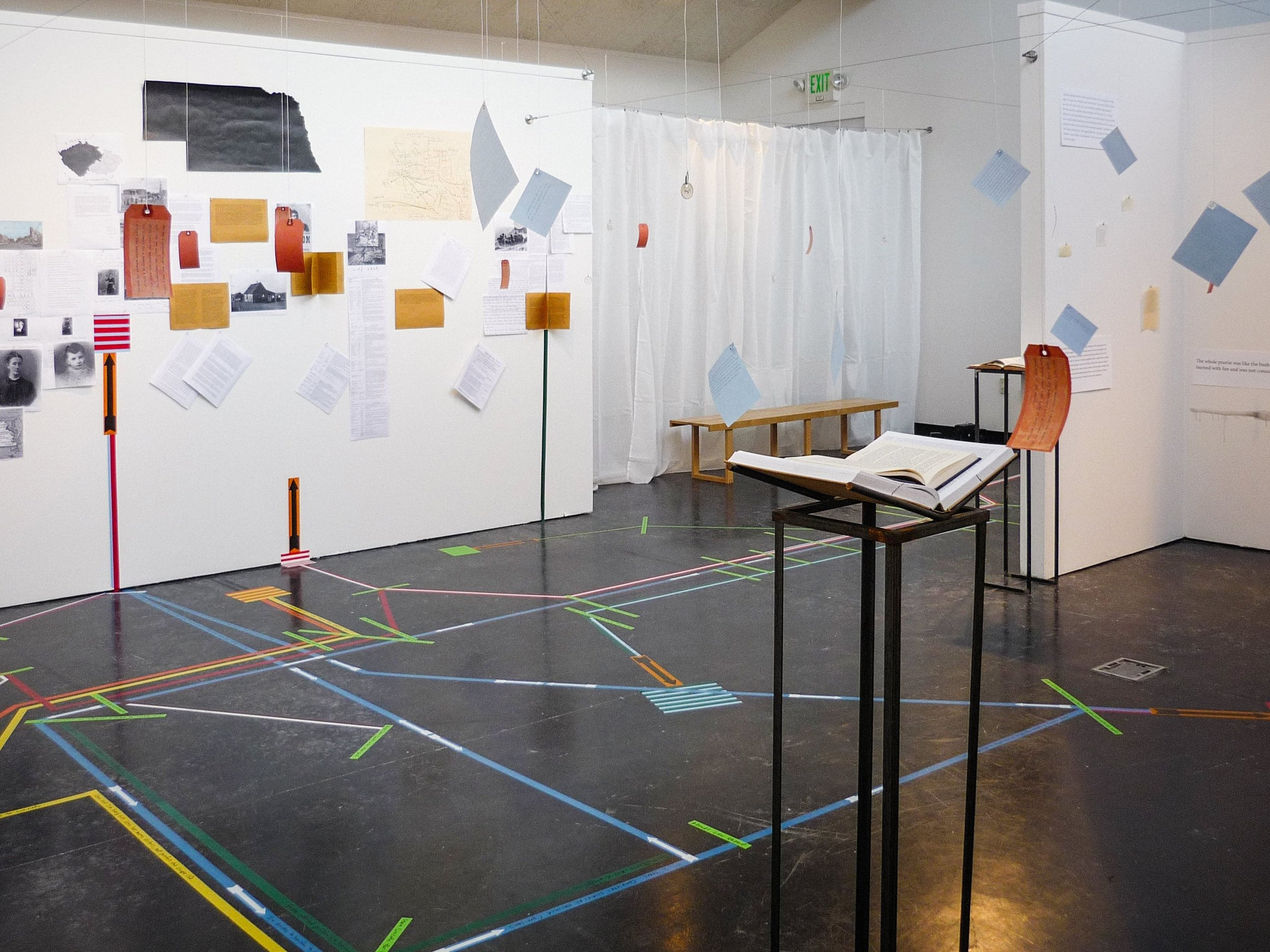 A Close Read: My Ántonia   (2010)   Installation   50 × 50 ft.  Mixed media.  Feldenheimer Gallery, Reed College, Portland, OR