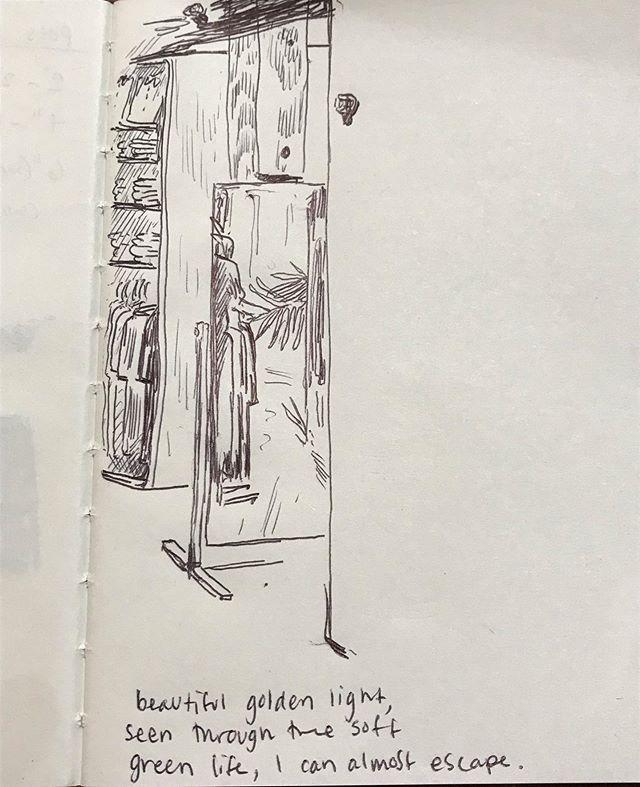 Fitting room fantasy ☁️✨ #workfantasies #retail #plants #illustration #ink #art #denightsdelights