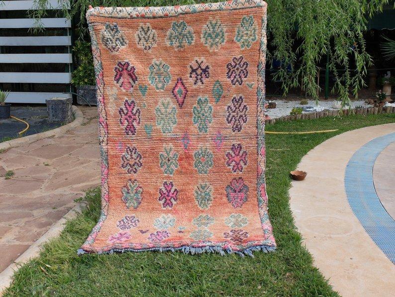 Vintage Handmade Rug Wool Carpet