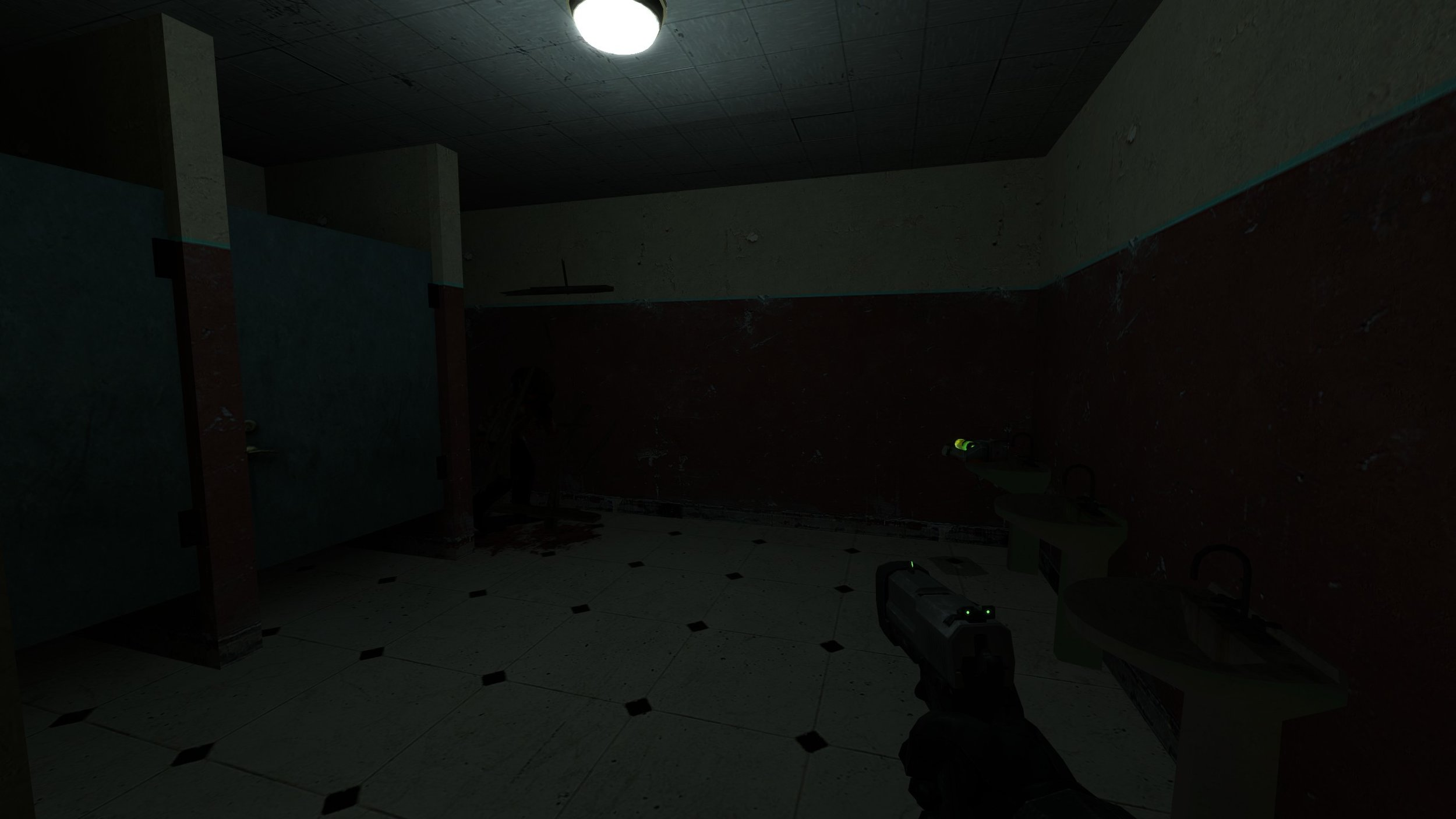 Zombie breaking through a door when the player gets close
