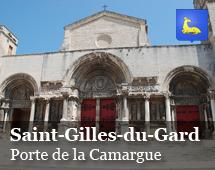 Saint Gilles du Gard : door of Camargue