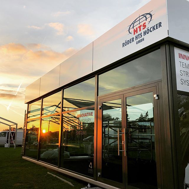 Sun setting on another @theshowmansshow where we supplied our new Tribeca structure for #roderhts #portablearchitecture #liveevents #eventprofs #eventproduction
