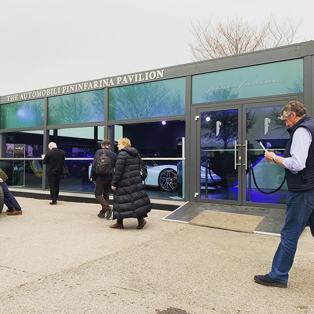 Members Meet at Goodwood a few weekends ago for our friends @ TRO.  Old meets new and probably the most expensive car we've ever built a temporary home for! #eventprofs #tribeca #portablearchitecture #liveevents #battista