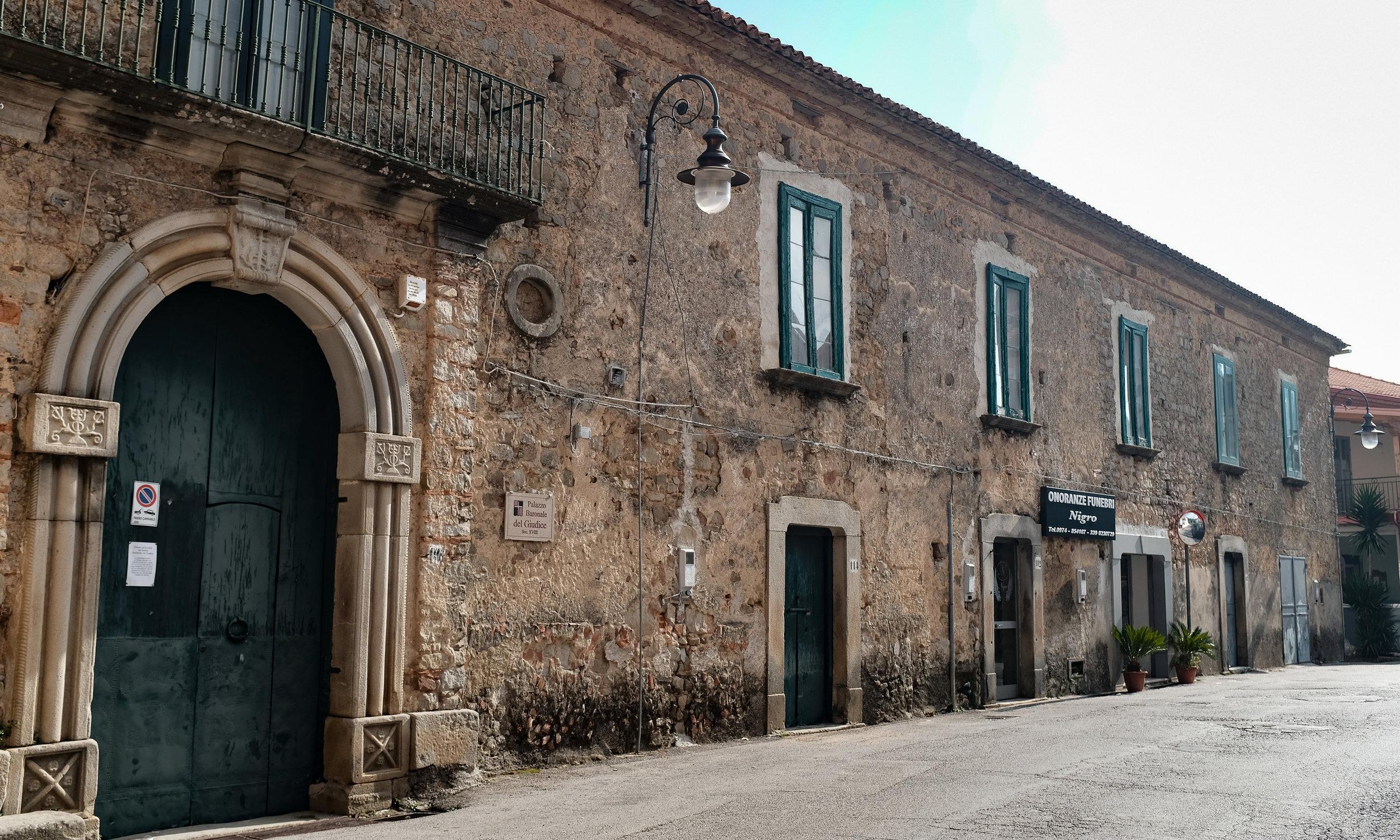 The Palazzo Baronale of San mango Cilento