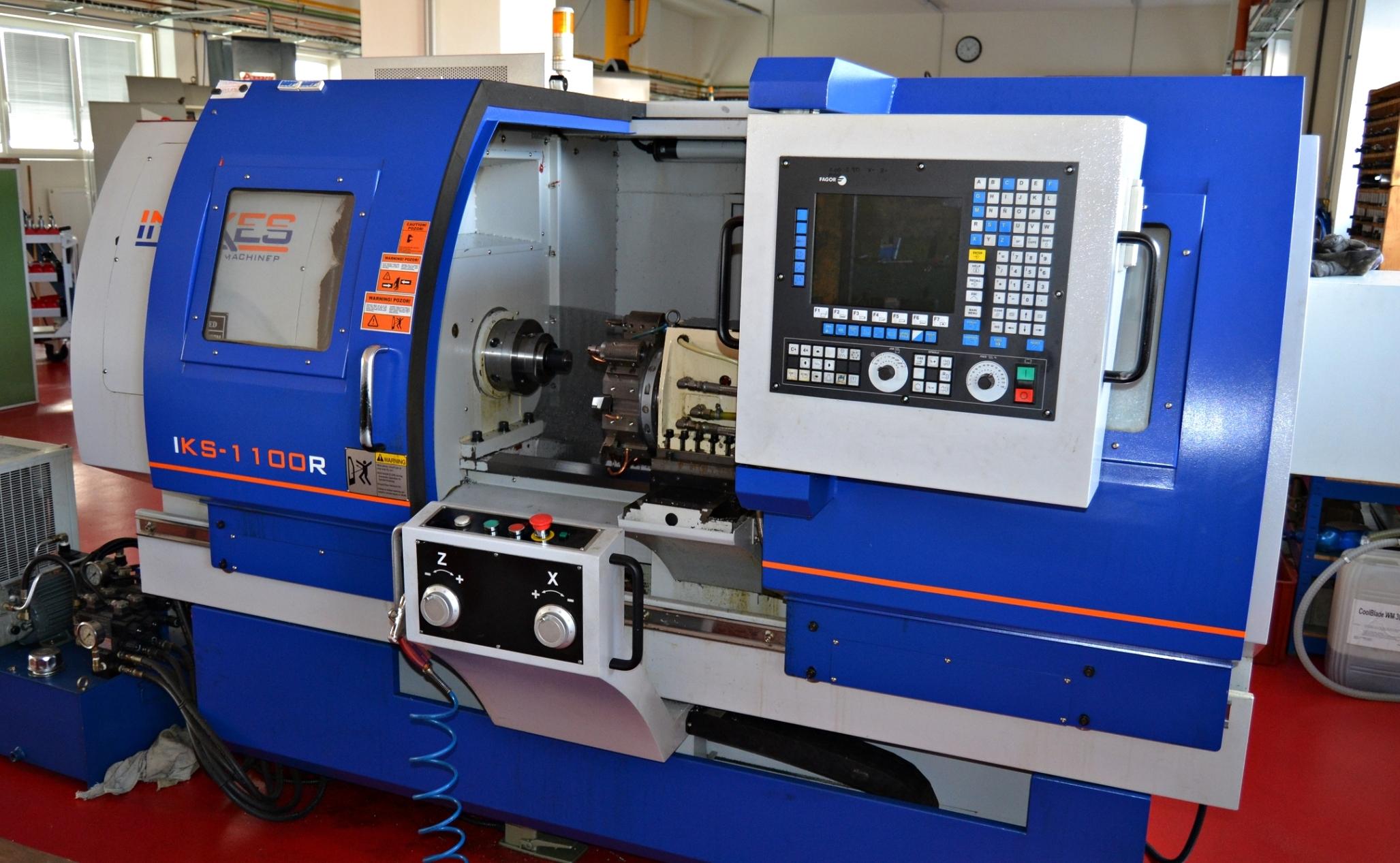 INAXES IKS1100R - CNC soustruhpracovní rozsah x=280mm; z=810mmřídící systém FAGOR 8055i/A-TC