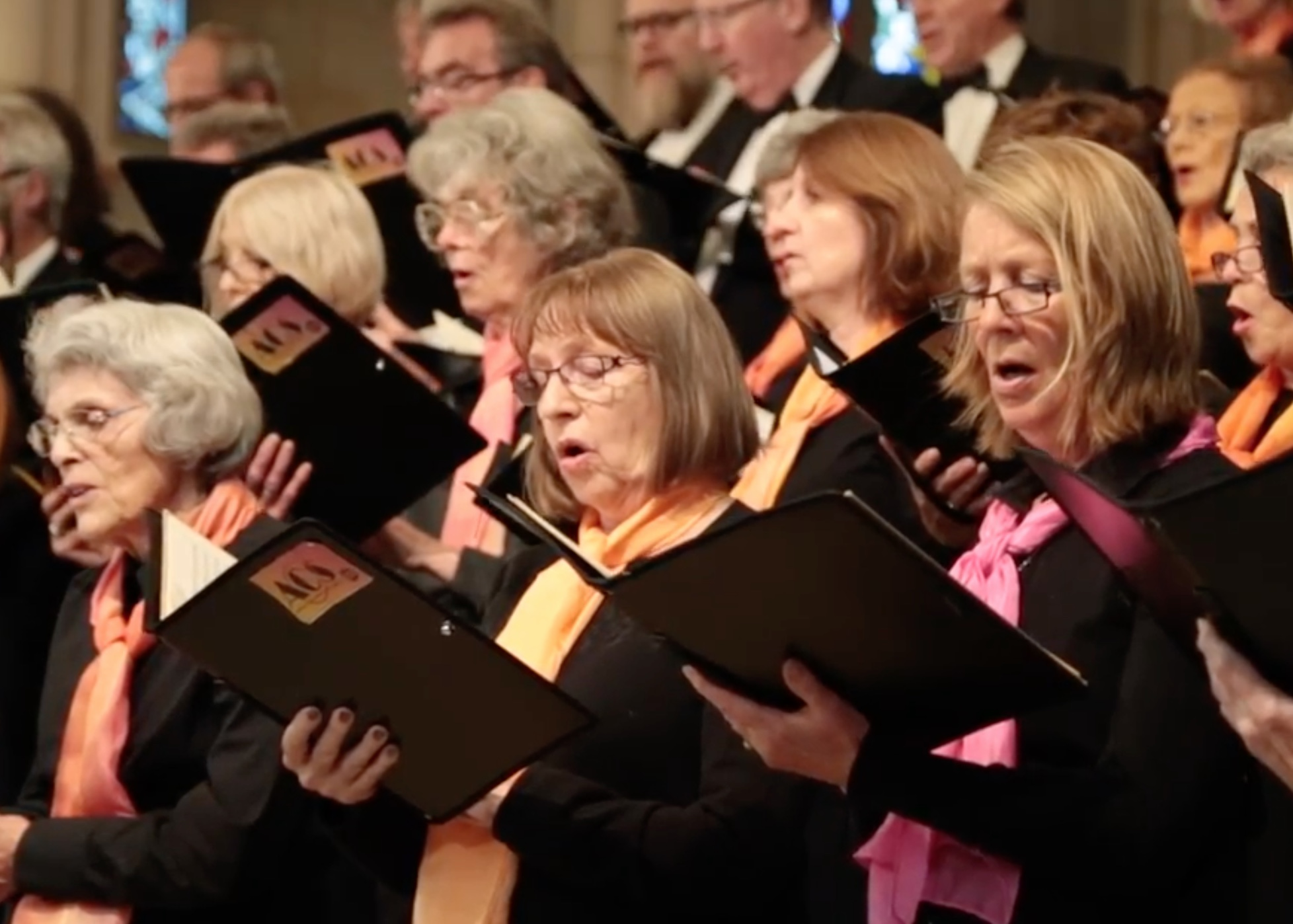 """""""This is a really special choral society with over 100 years of history. It's a very close knit group of friends and it's a very friendly and warm atmosphere."""" - Joe Paxton, musical director"""