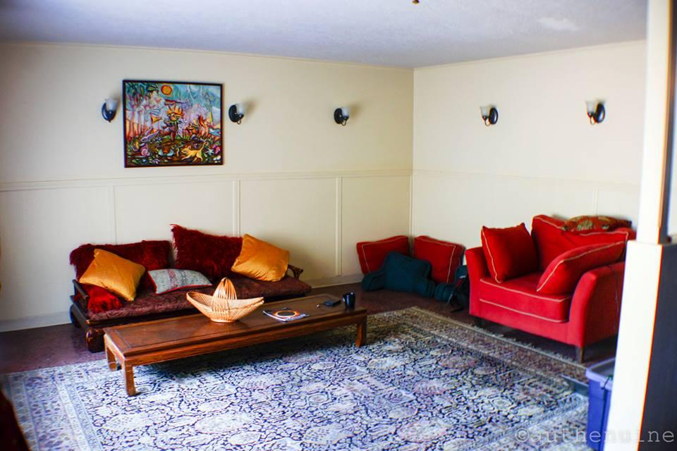 Comfy lounge for socializing or food