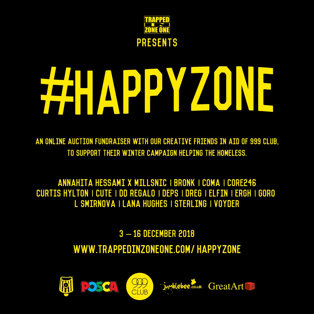 #HappyZone Charity Fundraiser Project for 999 Club