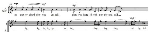 Extract from The Knight of the Grail, commissioned by the New London Children's Choir in 1993