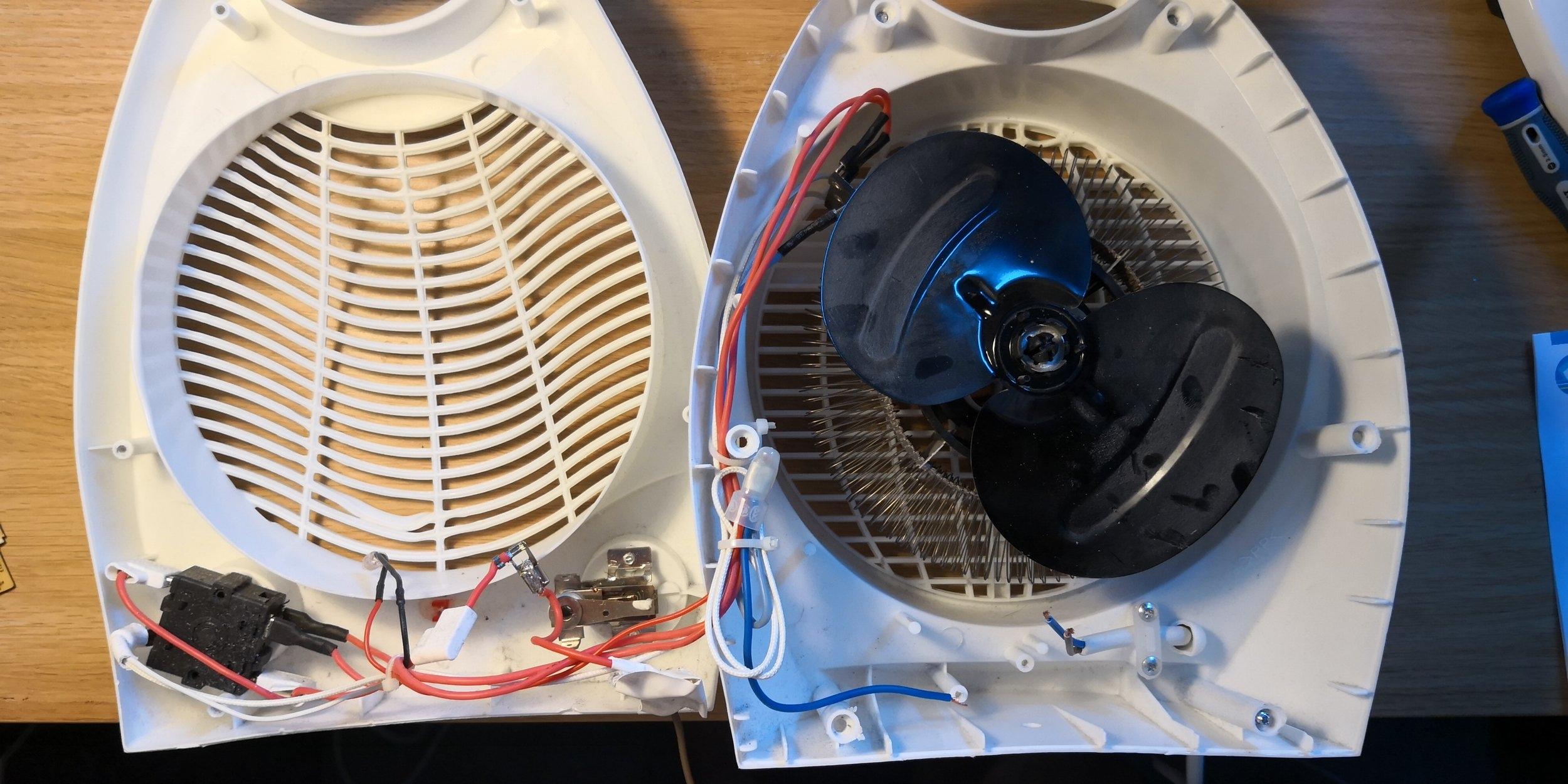 Värmefläkt från Kjell & Co.
