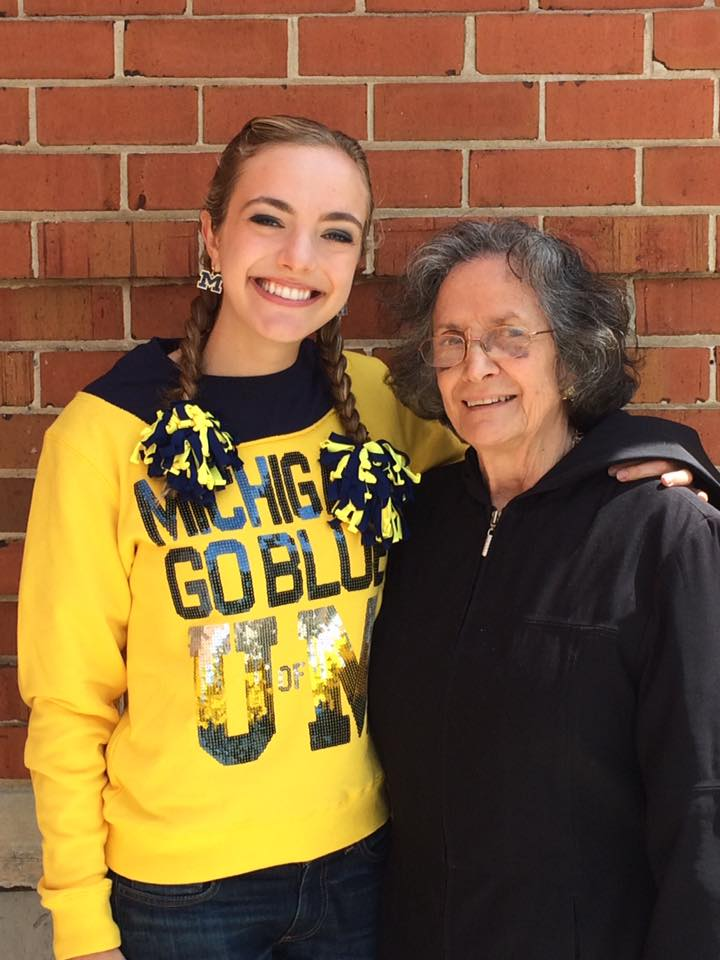 My fabulous grandma and I the day before my college graduation. Bet you can't guess where I graduated from.