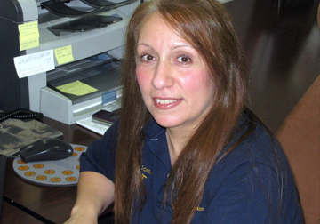 Nancy Messina, Office Manager  Nancy is responsible for the day to day running of the office including shipping, invoicing, filing and phones.